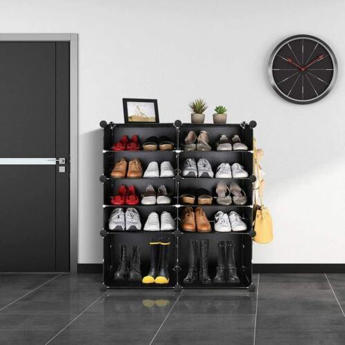 Multi-Cube Storage Shoes Shelving Closet