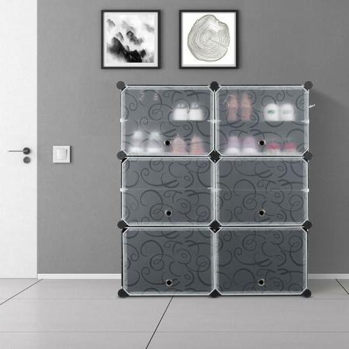 multi cube stackable storage organizer shoes clothes