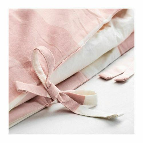 New RUTA Twin cover and pillowcase, pink,