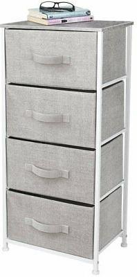 Nightstand Chest 4 Drawers Bedside Dresser Furniture for Bed