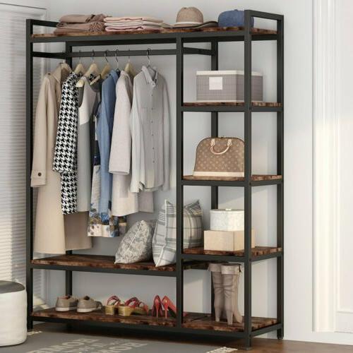 free standing closet organizer heavy duty garment