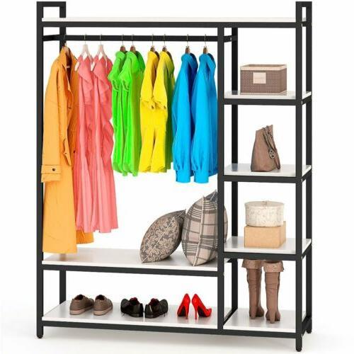 Portable Closet Storage Clothes Hanger Shelf