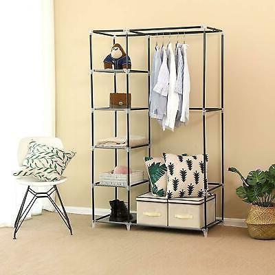 Portable Closet Storage Clothes Fabric Shoe Rack