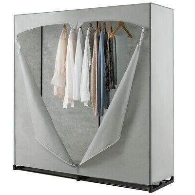 Portable Clothes Storage Organizer Closet with Rack