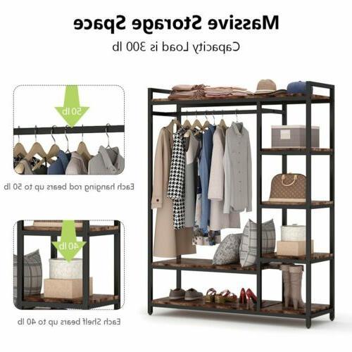 Freestanding Closet Organizer Portable Garment Rack for Bedr