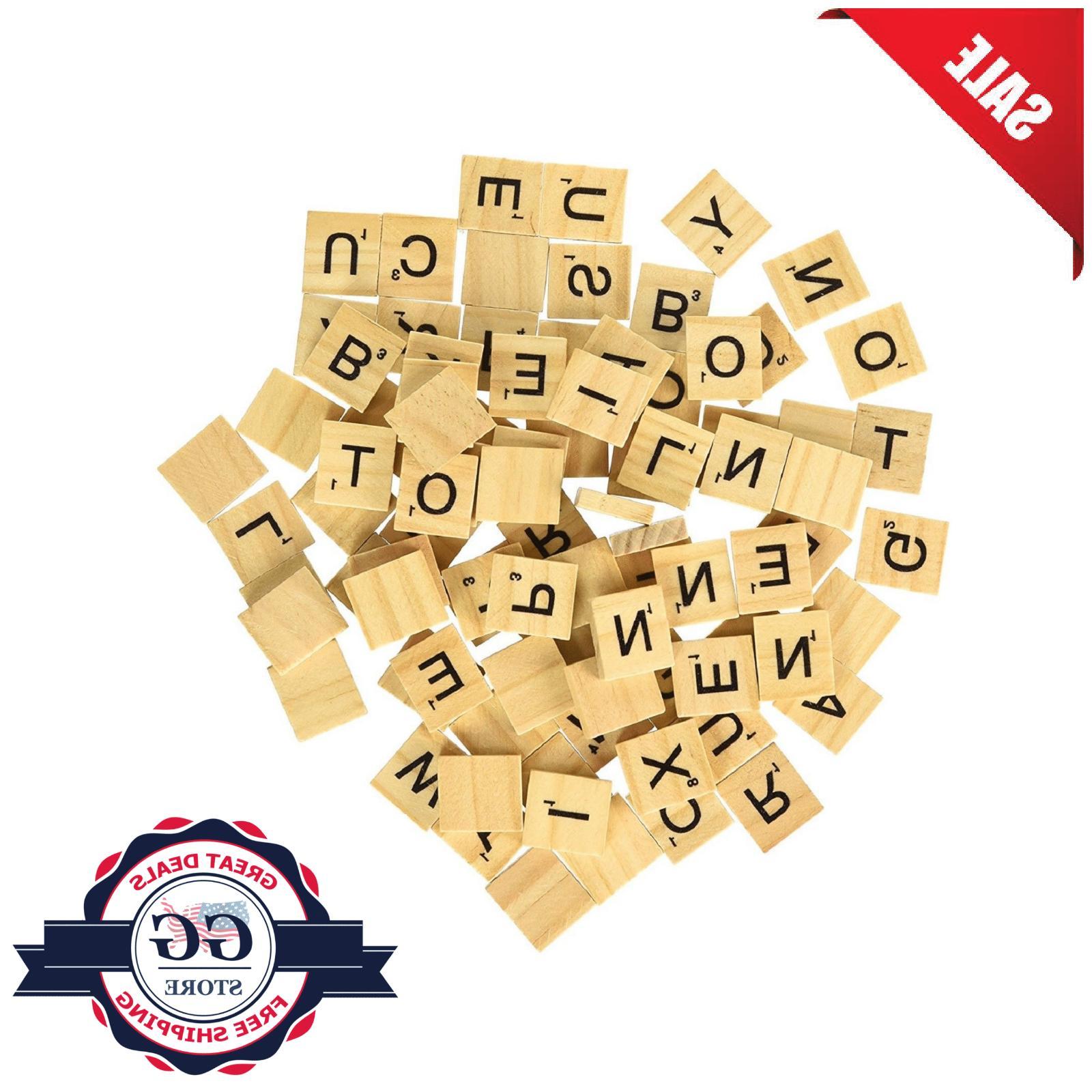 SCRABBLE TILES Pieces Full Sets Letters Wooden Pick