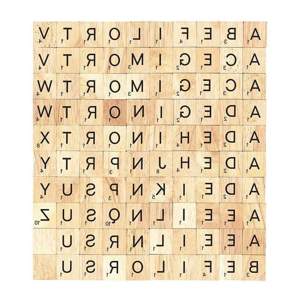 SCRABBLE Pieces Sets Wooden Pick