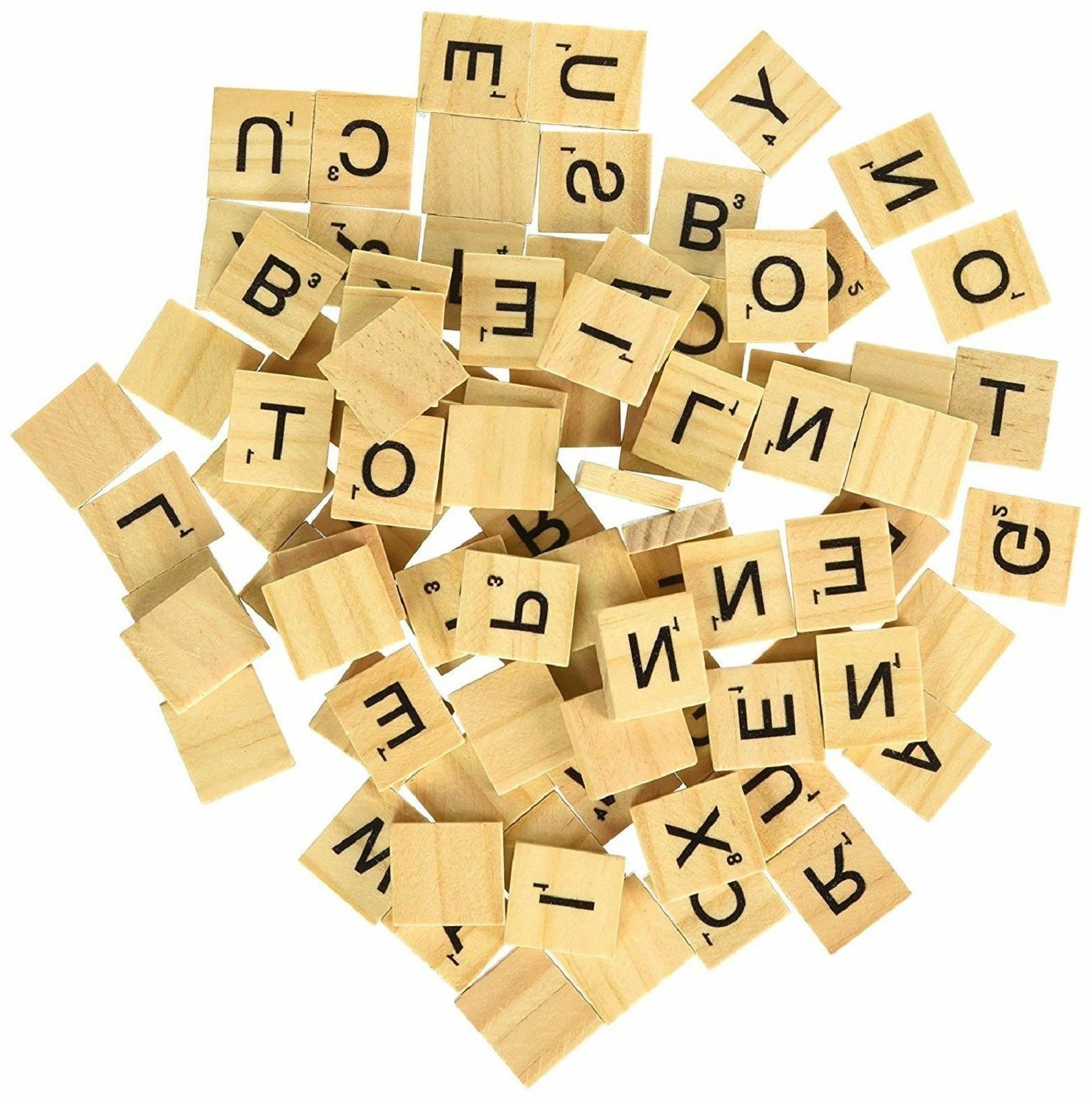 SCRABBLE WOOD 100-500 Pieces Sets Wooden Replacement
