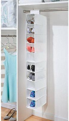 Shoe Clothe Hanging Storage Organizer 10-Shelf Rack Closet H