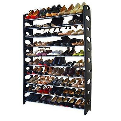shoe rack 10 tier 50 pair shelf