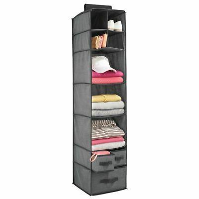 soft fabric over closet rod hanging storage