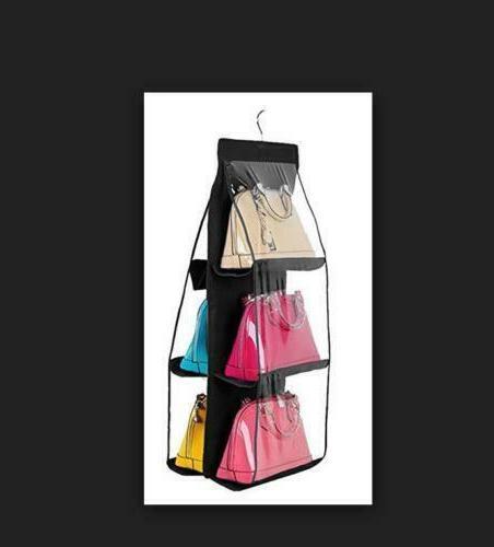 US 6 Pocket Shelf Bag Storage Holder Wardrobe
