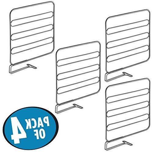 Closet Shelf Separator Storage Organization in Kitchen Office - Pack -