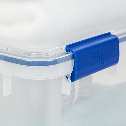 IRIS Inc. WSB-SD WeatherShield Storage Box, Quart, Clear,
