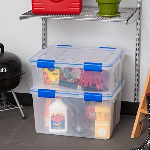IRIS USA, WeatherShield Box, Quart, 3 Pack