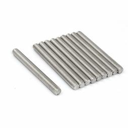 uxcell M8 x 80mm 1.25mm Pitch 304 Stainless Steel Fully Thre