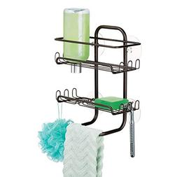 mDesign Small Metal Suction Tub & Shower Caddy, Bathroom Sto
