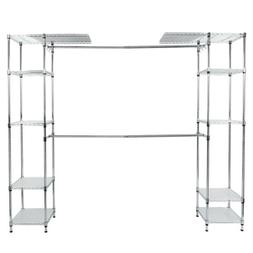 Metal Rack Custom Closet Organizer Shelves System Kit Expand