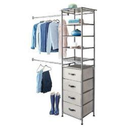 "iDesign Modular Closet Storage System, Graphite 71.51"" x 1"