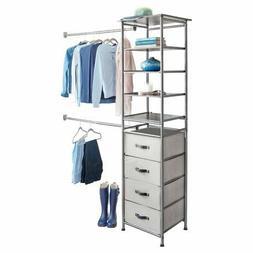 iDesign Modular Closet Storage System, Graphite