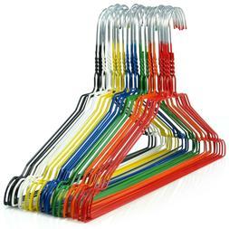 "Hangerworld™ Multi Colored 16"" Metal Wire Clothes Coat Han"
