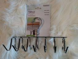 NEW - InterDesign 14 hooks tie belt support Closet Organizer