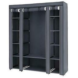 New Design Portable Closet Wardrobe Clothes Rack Storage Org