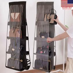 New Hanging Handbag Organizer,8 Pocket Shelf Bag Storage Hol