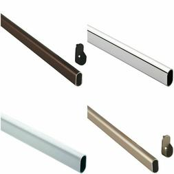 Hafele Oval Closet Rod with 2 End Supports - Pick your QTY,
