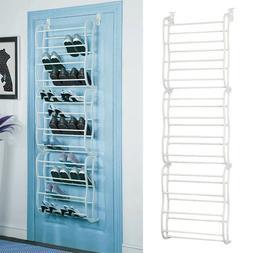 Over-The-Door Shoe Rack for 36 Pair Wall Hanging Closet Orga