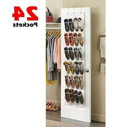 Over The Door Shoe Organizer Rack Hanging Storage Holder Han