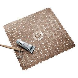 iDesign Pebblz Plastic Suction Non-Slip Bath Mat for Shower,