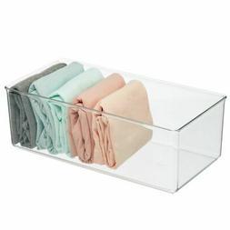 mDesign Plastic Drawer Organizer Bin for Closets - 4 Pack -
