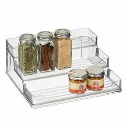 mDesign Plastic Spice and Food 3 Tier Kitchen Shelf Storage