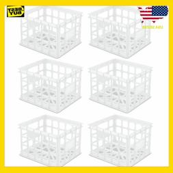 Sterilite Plastic white Storage Box Milk Crate Containers Ho