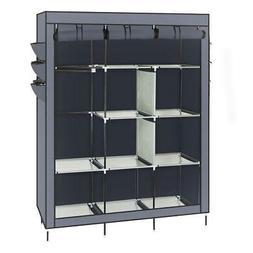 Portable Clothes Rack Closet Storage Holder Dustproof Wardro