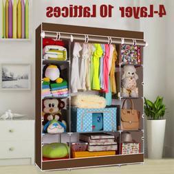 Portable Wardrobe Bedroom Armoires Clothes Closet Non-Woven