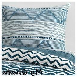 IKEA PROVINSROS Duvet Cover Pillowcase Set DENIM BLUE WHITE