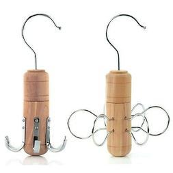 Hangerworld™ Quality Cedar Wood Tie Belt & Scarf Organizer