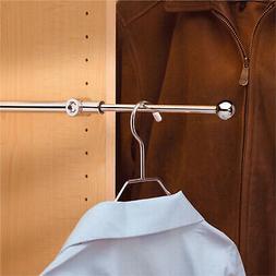 """Rev-A-Shelf 14"""" Pull-Out Clothes Closet Valet rod chromefi"""