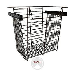 "Rev-A-Shelf Sidelines CBSL-181417BZ-3 18"" Wire Pullout Close"