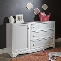 South Shore Savannah 3-Drawer Dresser with Door, Multiple Fi