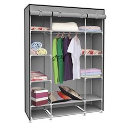 Home Basics SC01506 Storage Closet With Shelving Grey,