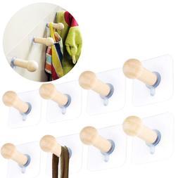 Self Adhesive Wall Mount Hooks Hat Cloths Key Holder Storage