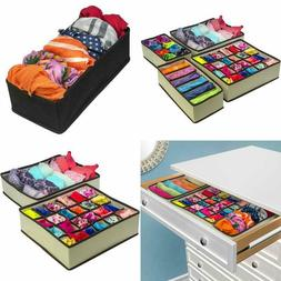 Sorbus Set of 4 Foldable Drawer Dividers, Storage Boxes Clos