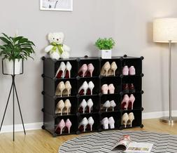 Shoe Storage Rack Organizer Cubes Stackable Hall Entryway Be