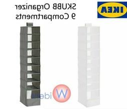 skubb 9 compartment hanging closet organizer