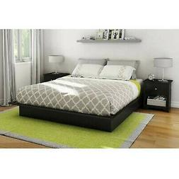 South Shore SoHo Queen Platform Bed; Headboard with 2 Nights