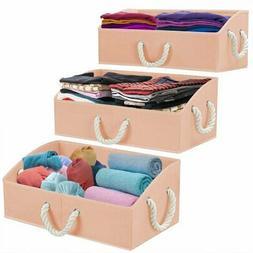 Storage Bins  Fabric Storage Baskets Box, Foldable Closet Or