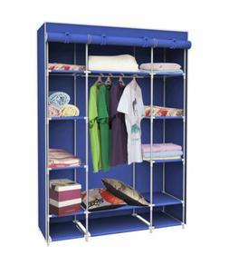 Sunbeam Storage Closet with Shelving, Navy Blue